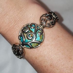 NWT Barse Sterling Silver and Turquoise Bracelet